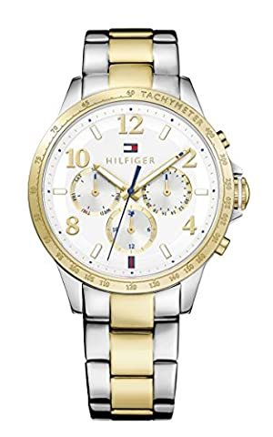 Tommy Hilfiger Womens Quartz Watch, multi dial Display and Stainless Steel Strap 1781644