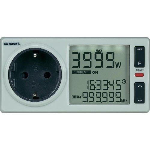 VOLTCRAFT Energy Monitor 4000 Pro D LCD, Energiekosten-Meßgerät, Ausführung für Deutschland, Österreich, Niederlande