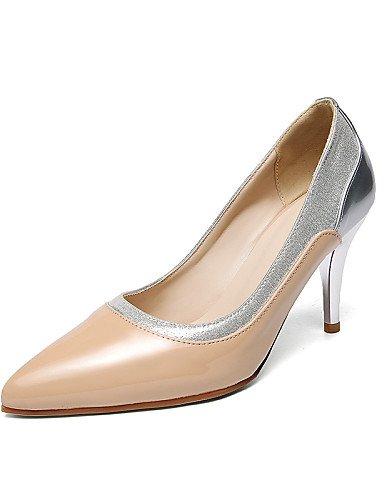WSS 2016 Chaussures Femme-Bureau & Travail / Décontracté-Noir / Bordeaux / Amande-Talon Aiguille-Talons / Bout Pointu-Talons-Cuir Verni burgundy-us10.5 / eu42 / uk8.5 / cn43