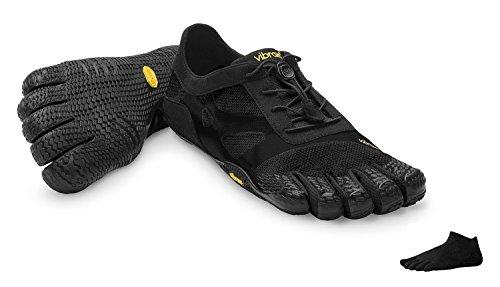 Vibram FiveFingers KSO EVO Men + Zehensocke 1105, Size:46;Color:Black