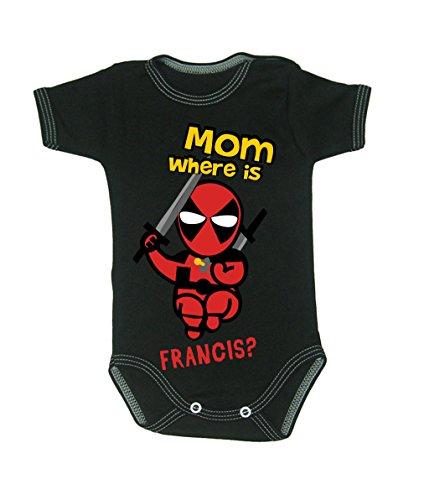 Colour Fashion Baby Jungen (0-24 Monate) Body schwarz schwarz 0-3 months, 62 - 0 3 Monat Superheld Kostüm