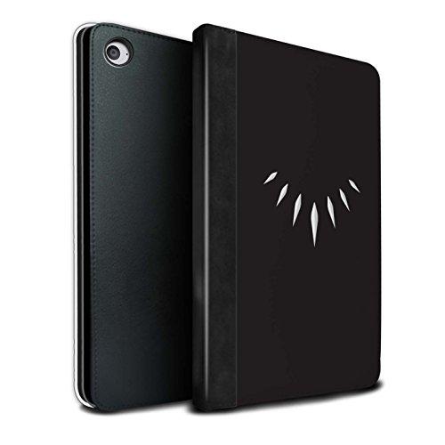 Stuff4® PU-Leder Hülle/Case/Brieftasche für Apple iPad Mini 4 Tablet/T'Challa Klauenhalskette Muster/Schwarzer Panther Inspiriert Kollektion -