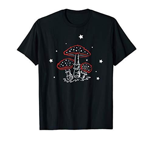 Skull Outfit Kostüm Sugar Ideen - Fliegenpilze Kleine Giftpilze Amanita - Pilze Geschenk Idee T-Shirt