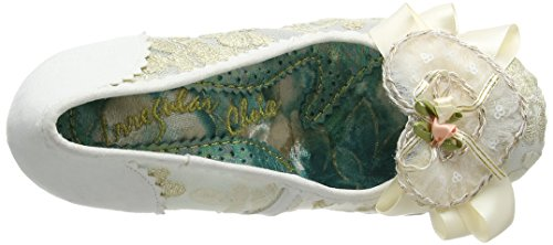 Irregular Choice Glinda, Scarpe Col Tacco Donna Off-White (Cream)