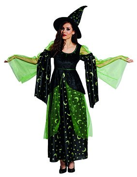 Kostüm Verruchte Hexe - Generique - Verruchte Magierin Hexe Damenkostüm schwarz-grün