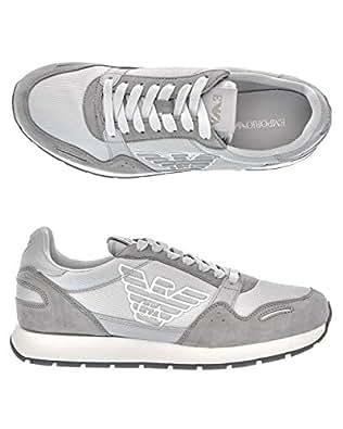 Immagine non disponibile. Immagine non disponibile per. Colore   GIORGIOARMANI Sneakers Uomo CAMOSCIO Grey 041a778a121