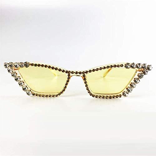 WYJW Unisex-Erwachsene Sparkle Sparkling Vintage Star Strass Cat Eye Sonnenbrille Neuheit Glitter Shades Damen \u0026 Mädchen Sonnenbrille