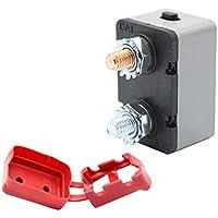 Vosarea Interruptor de Circuito de reinicio Manual IP66 a Prueba de Agua 40A 24V Rotura para el autobús del Carro del Carro Barco RV Cargador de batería estéreo (Gris)