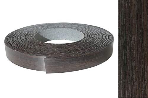 Kantenumleimer Melamin 22mm x 10m mit Schmelzkleber in Wenge Eiche dunkel Dekor -