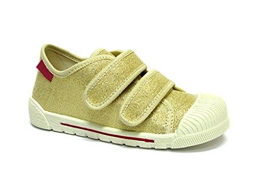 xKids Kinder Jungen Mädchen Hausschuhe Sneaker Modell Munich Gr. 24 - 31 EU Gold