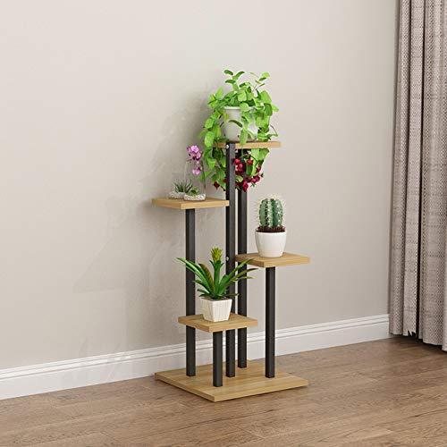 Legno 4 livello stand per piante armadio dati,più stand di fiori interna all'aperto scaffale del display dell'impianto per patio giardino angolo balcone soggiorno q 40x40x88cm(15.7x15.7x34.6inch)