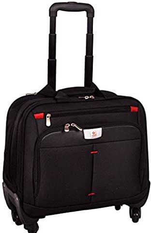 4 Wheeled Laptop Case Spinner Briefcase 16