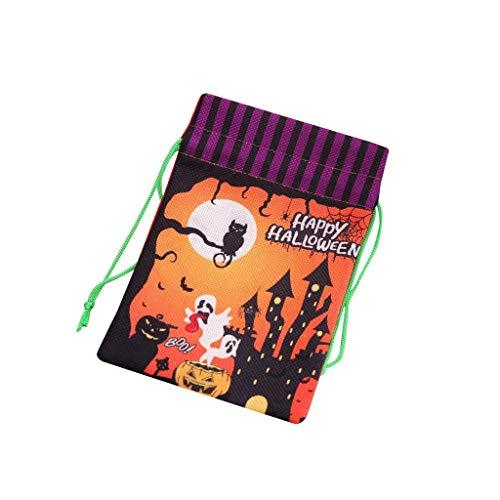 Keks Kostüm Der Hunde - Halloween Geschenktüte Bonbon-Tüte,Kordelzug Sack Halloweensüßigkeit Keks Süßes Geschenk-Taschen Süßes oder Saures Taschen,Wiederverwendbare Halloween Kordelzug Vlies Geschenk Süßigkeitstasche