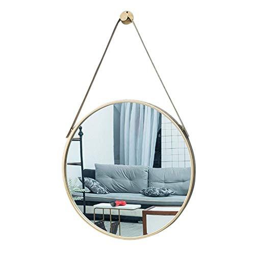 Espejo colgar pared Metal decorativo redondo negro