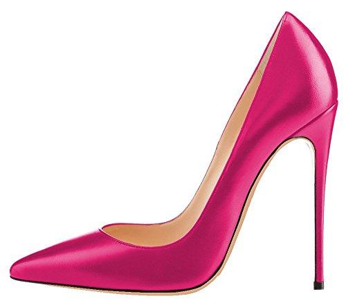 uBeauty - Scarpe da Donna - Scarpe col Tacco - Classiche Scarpe col Tacco - Scarpe Colorate Rosso A