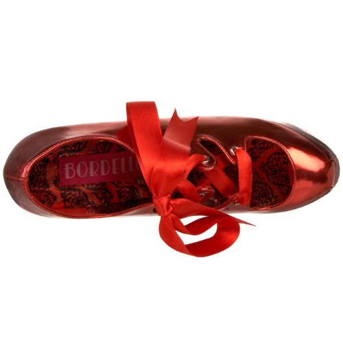 Bordello TEE09/B Escarpins Femmes Rouge