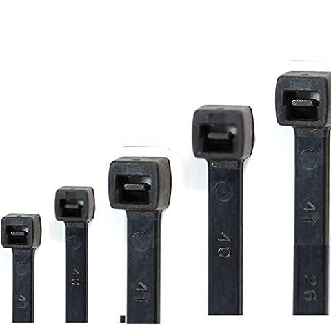 Câble professionnel de liens Lot de 500. 5tailles Blanc ou