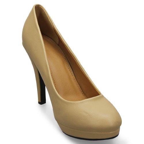 MQ23, Scarpe col tacco donna Marrone (marrone)