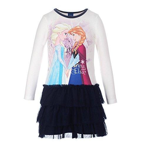 Frozen Elsa Kleider (Disney Mädchen Kleid Frozen Eiskönig Elsa und Anna 73656, Dunkelblau,)