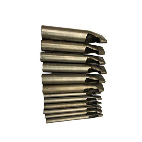 Supvox 12 piezas cuero artesanal perforado conjunto