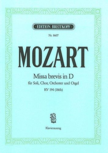 Missa brevis D-dur KV 194 (186h) - Breitkopf Urtext - Klavierauszug (EB 8607)