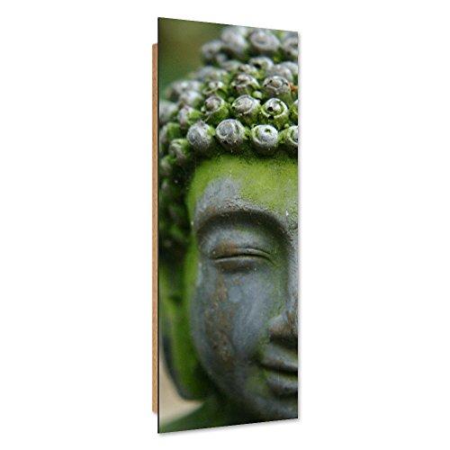 Feeby quadro deco panel - 1 parte - 40x120 cm, pannello singolo, quadro decorativo stampa artistica, buddha, religione, cultura, verde