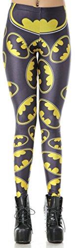 THENICE Damen Elastic Gedruckt dehnbar Strumpfhosen Leggings Pants (L, ()