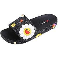 ღLILICATღ Zapatillas Antideslizantes para Mujeres Uso En Interiores Uso Al Aire Libre Baño Sandalia Suela De Espuma Suave Zapatos De Piscina Casa Hogar Slide
