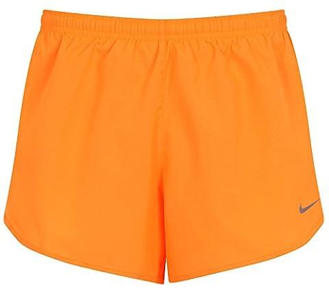 Nike Modern Embossed Tempo Dri-Fit Damen Running Shorts, Orange, Größe