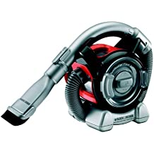 Black & Decker PAD-1200 - Aspirador de mano para coche,12 V,  tubo con opción de 2 cabezales, color negro y rojo