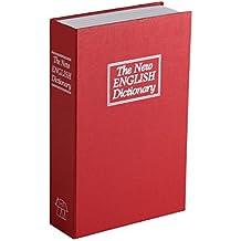 Premium Libro Caja Fuerte Dinero láser con 2llaves Medidas: 23,5x 15,5x 5,5cm), color rojo