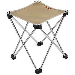 fghfhfgjdfj Durable Portable 7075 en Alliage d'aluminium Oxford siège en Tissu Se Pliant Petite Chaise pour l'extérieur Camping Chasse Pêche Pique-Nique