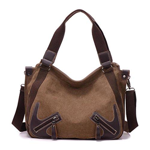 bolsos de las mujeres, FEITONG Las mujeres bolso de moda Bolsa de hombro bolsa grande de asas de las señoras (marrón)