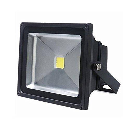 SAILUN 1 x 20W LED Fluter Strahler Licht Scheinwerfer Außenstrahler Wandstrahler Schwarz Aluminium IP65 Wasserdicht AC 85 - 265V Kaltweiß(1 x 20W Kaltweiß)