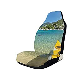 GUUi Seat Covers Vehicle Protector Car Mat, Extreme Sports In Wild Lakeside Places Scenic Activities,Fit Most Cars, Sedan, Truck, SUV,1pcs