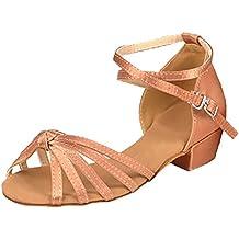 Amur Leopard Zapatos de Baile para Niñas Zapatos de Tacón Alto para Jazz Baile Latina y Salsa