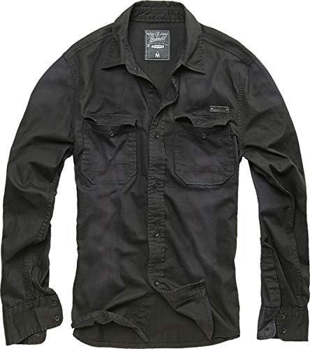 Brandit denimshirt hardee, colore nero, taglia xxl