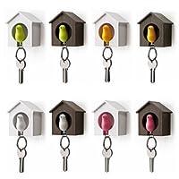 Stonges Novel Mini Sparrow Bird Nest KeyChain Key Ring Holder Hook Whistle Household