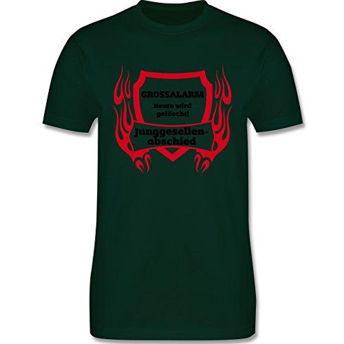 JGA Junggesellenabschied - Grossalarm - Herren Premium T-Shirt Dunkelgrün