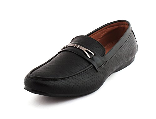 ALESTINO Men's Black Synthetic Loafers – 7 UK image - Kerala Online Shopping