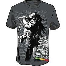 Bob Marley - Hit Me Jumbo Erwachsene T-Shirt in der Holzkohle