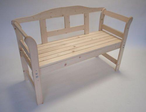 TPFGarden Gartenbank/Holzbank Lena 120cm 2-sitzer aus Nadelholz Massiv✔ | Holz von Höchster Qualität✔ | Farbton: Fichte Natur✔ | 1 Stück✔ (Klassische Stuhlhussen)
