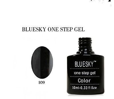 Bluesky UV/LED One Step Gel Nail Polish Number 109, Jet Black 10 ml