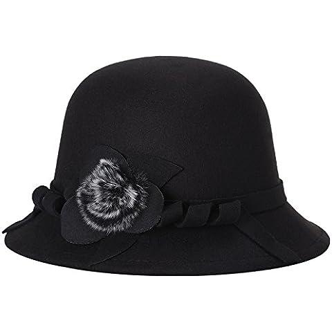 Sombrero de lana virgen sombreros para el otoño/invierno cálido sombrero sombreros de moda moda caps un color sólido,red,57cm