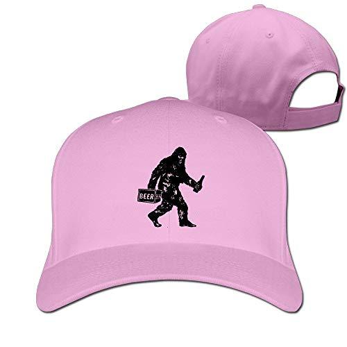 Xdevrbk Big-Drunk Bigfoot Funny Sasquatch Bigfoot Adjustable CapsSnapback Hats Unisex9