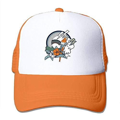 fboylovefor Summer Flexfit Trucker Mesh Hat, Lightning Nature Sun Hats Sports Baseball Caps