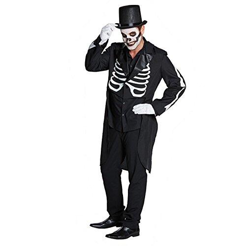 Dirigent Für Kostüm Erwachsene - Rubie's NEU Herren-Kostüm Skelett-Frack, schwarz, Gr. 48
