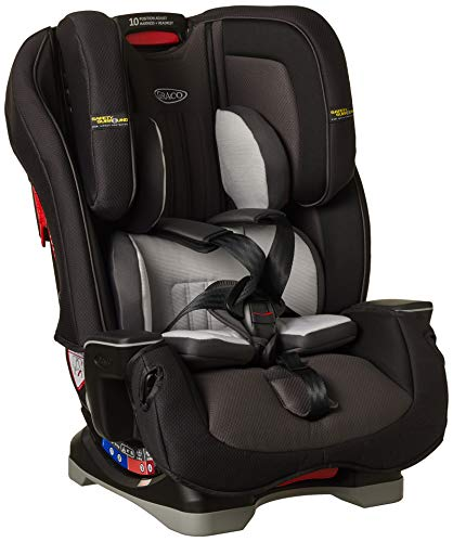 Graco Milestone LX All-in-One-Autositz mit Safety Surround-Seitenaufprallschutz, Gruppe 0+/1/2/3, nachtgrau