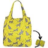 Re-uz Lifestyle bolsa plegable reutilizable compra bolsa de la compra–con diseño de gatos Sage