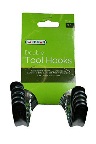 Gardman 15944 Pack de 5 Fixations à Double Crochet pour Outils